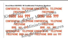 NI Confidential Phone Numbers - Red Type 1
